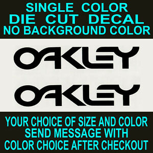 (2x) Oakley Die Cut Vinyl Decal Car Truck Window Laptop Sticker