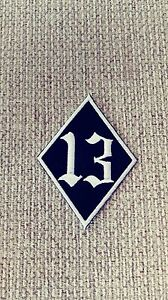 Diamond Patch with 13 in the Middle. 1%er Black & White