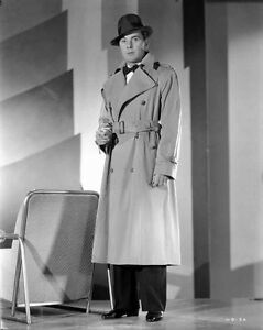 George Brent standing in Coat High Quality Photo