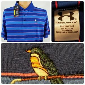 Under Armour Golf Loose Fit HeatGear Polo Striped Shirt Large NWT  L505