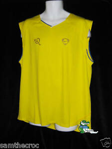 New NIKE RHONALDINHO DriFit Football Training Vest Sleeveless Shirt Yellow XL