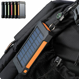 300000mAh Dual USB Portable Solar Battery Charger Solar Power Bank For Phone USA