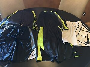 Lot of 5 Nike Dri-Fit Youth Boys Basketball Shorts X-Large White Black Camo XL