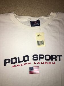 Brand New Polo Sport Ralph Lauren Spellout Shirt Vintage 90's Stadium Pwing Bea