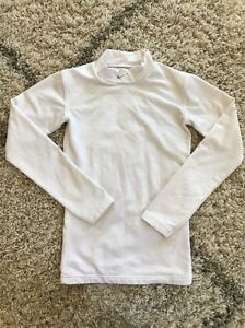 Boys Youth Nike Fit Dry Turtle Neck Shirt Long Sleeve Size 14 White