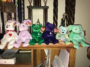 Beanie Baby Lot Rare Retired Original Ty Beanie Babies Lot Of 20 Adult Owned