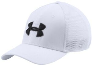Brand New Under Armour Mesh Stretch 2.0 Golf Hat Cap Men's White Size ML
