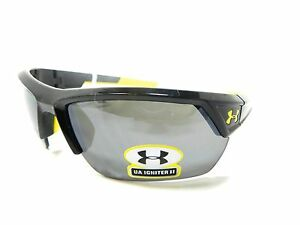Under Armour IGNITER 2.0 Armoursight Shiny Black Gray New With Tags