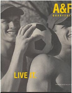 ISSUE 01 Abercrombie & Fitch Catalog Back to School 1997 A&F Bruce Weber LIVE IT