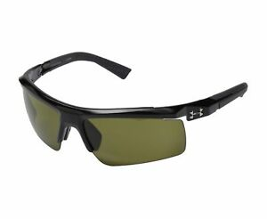 NEW Under Armour Core 2.0 Shiny Black Charcoal  Gameday Sunglasses