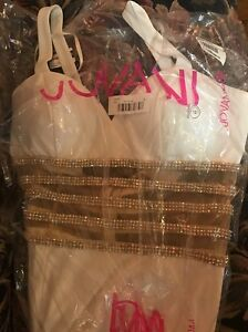 Jovani Long Dress New Sz 12 Off White 100% PolyesterSome see photos