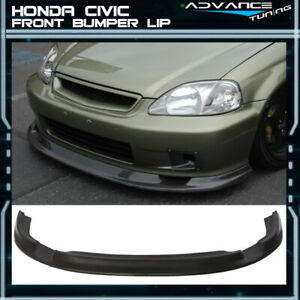 For JDM First Molding 99-00 Honda Civic EK Front Bumper Lip - Urethane