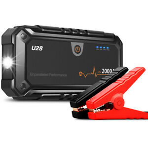 2000A 12V Car Jump Starter Booster Portable Auto Battery Charger Power Bank Pack