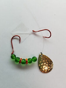 5 worm harnesses green beads double red wedding rings.WHGRGB 5 $6.95