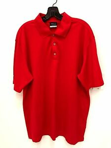 Nike Golf Nike Fit Dry Golf Polo Men's XL Short Sleeve Red Embroidered Shirt