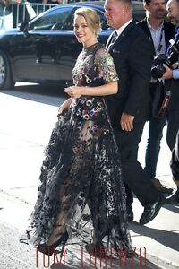 NWT VALENTINO Floral Embroidered Beaded Gown 404 $32000