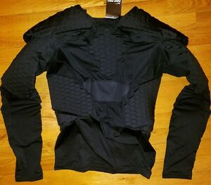 *RARE* NIKE Pro Combat HYPERSTRONG DeFlex 10 Pad SHIRT Mens XL rugby lacrosse