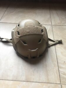 Type A Airsoft Helmet AND Desert Locus Goggles with sleeve