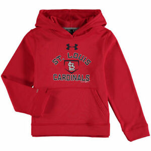 St. Louis Cardinals Under Armour Youth Armour Fleece MLB Hoodie - Red - MLB