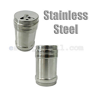 2 Pcs Stainless Steel Shaker Salt and Pepper Spice Commerial Home Kitchen B13997