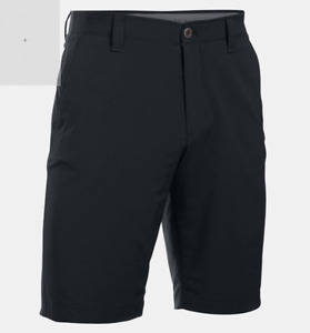 NWT Men's Black Under Armour UA Performance Match Play Golf Shorts Size 36