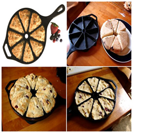 Vintage Cast Iron Corn Bread Cornbread Baking Bake Wedge Pan Skillet Mold Scones