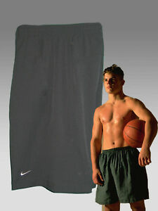NEW NIKE Plus Men's Fit-Dry Long Stretch Gym Fitness Basketball Shorts Black M