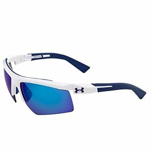 Under Armour Men's Core 2.0 Sunglasses Grey Blue UVA UVB UVC Ray Protection New