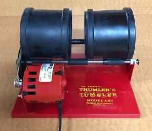 Thumler A-R2 Rotary Rock Tumbler 6lb Two Barrel Polishing Polisher Brass jewelry