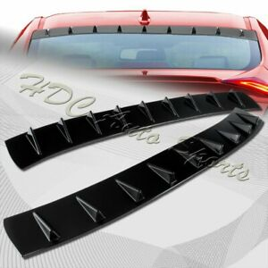 For 2016-2019 Honda Civic 4DR Black Shark Fin Rear Roof Window Spoiler Wing