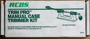 RCBS TRIM PRO MANUAL CASE TRIMMER KIT 90355 *Free Priority Shipping*