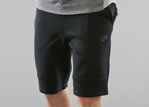 NEW MENS S SMALL NIKE TECH FLEECE SHORTS 1MM ALL BLACK 628984 010 acg SOLD OUT