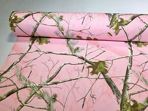Realtree AP Pink Cotton Poly Comfort Twill Camo Fabric 60quot;W Camouflage By the Yd