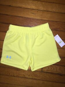 UNDER ARMOUR Toddler Kids Yellow Mesh Shorts size 4T NEW NWT girls boys