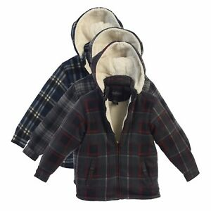 Boys Hoodie Jacket Kids Winter Warm Clothes Toddler Flannel Sherpa Lined Zip Up $19.95