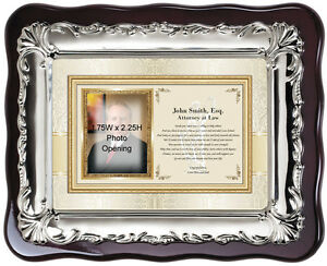 Law School Graduation Picture Frame Gift for Attorney Lawyer Photo Passing Bar