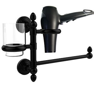 Allied Brass Waverly Place Hair Tool & Tumbler Holder