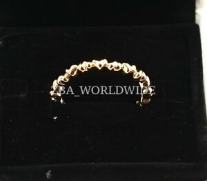 NEW Authentic Pandora 14K Gold Forever Love Heart Ring 150160 Sz 5.5 - 9-9.5