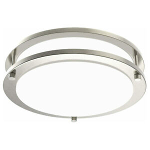 Facon Double Ring LED Flush Mount Ceiling Light Dimmable 10'' 12'' 14'' 120V AC