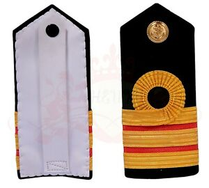 Royal Navy Medical Surgeon commander Rank Shoulder Board Epaulette British Naval