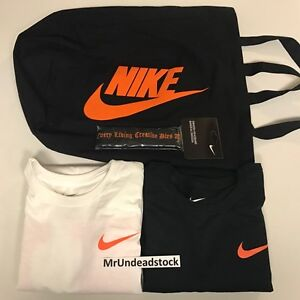 VLONE x Nike Black White Long Sleeve T-Shirts Headband Tote Bag Bundle Sz Medium