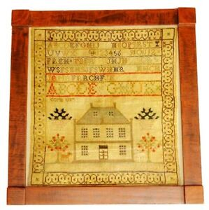 ANTIQUE SAMPLER C.1800's BY ELIZA BEVERIDGE # 2