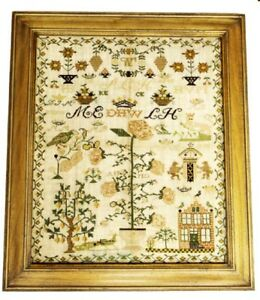 ANTIQUE SAMPLER 1828 BY ANNO #3