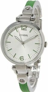 NWT Fossil ES3256 Georgia Leather Adjustable Bracelet Watch