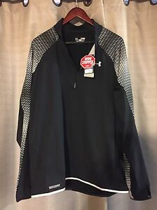 NWT MENS UNDER ARMOUR WINDSTOPPER REFLECTIVE 14 ZIP FITTED JACKET SHIRT $179