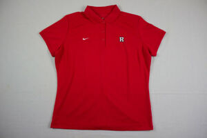 NEW Nike Rutgers Scarlet Knights - Red Dri-Fit Polo Shirt (XL)