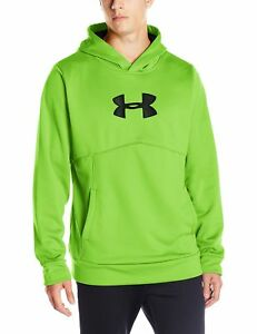 Under Armour Men's Storm Icon Logo Hoodie Hyper GreenBlack X-Large