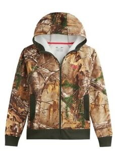 $85 Womens Under Armour Camo Realtree AP Hunting Jacket Hoodie Coldear Coat NWT