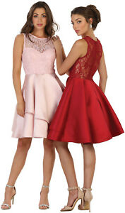HOMECOMING SEMI FORMAL DANCE GRADUATION PROM SHORT DRESSES COCKTAIL BRIDESMAIDS
