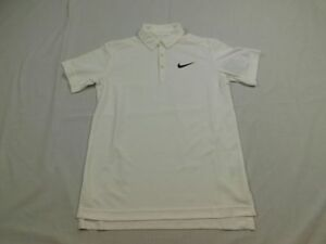 NEW Nike Boys' Dry Tennis Polo - White Dri-Fit Polo Shirt (Multiple Youth Sizes)